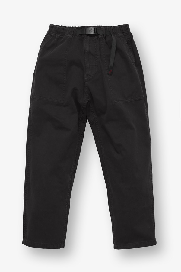 LOOSE TAPERED PANTS BLACK