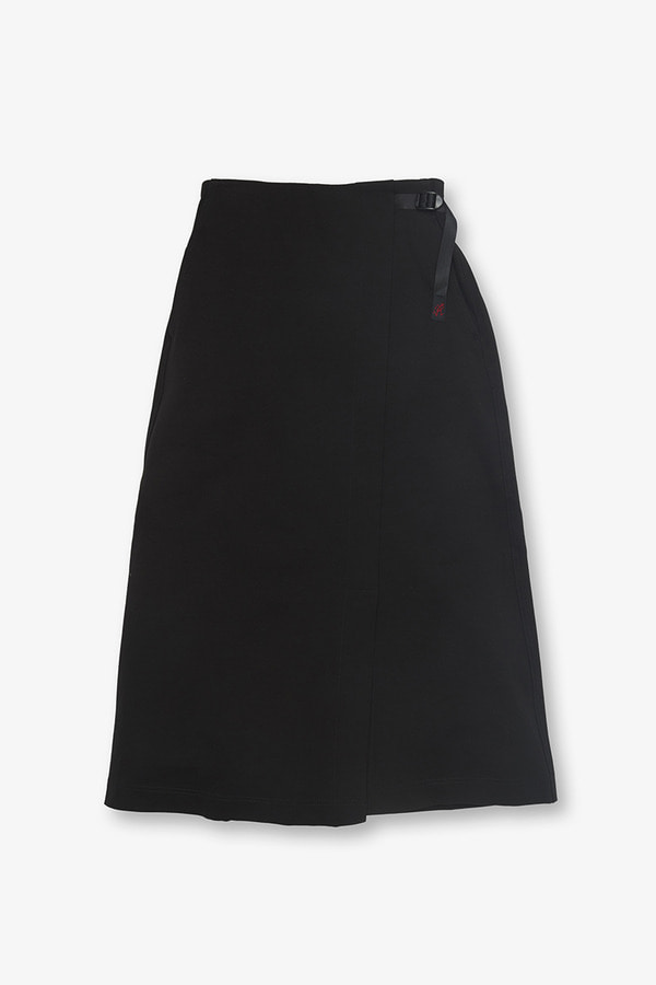 PONTE WRAP SKIRT BLACK