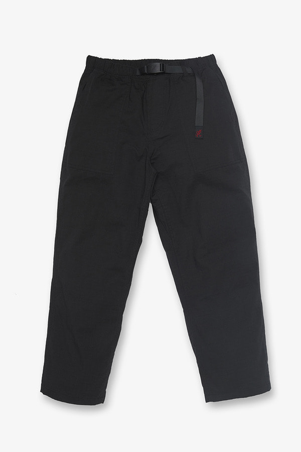 BIG RIPSTOP LOOSE TAPERED PANTS BLACK