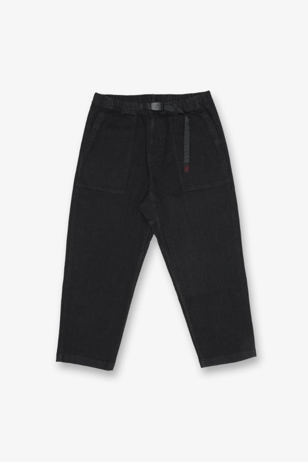 DENIM LOOSE TAPERED PANTS BLACK ONE WASH