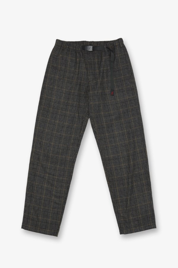 WOOL BLEND GRAMICCI PANTS GLEN CHECK GREY