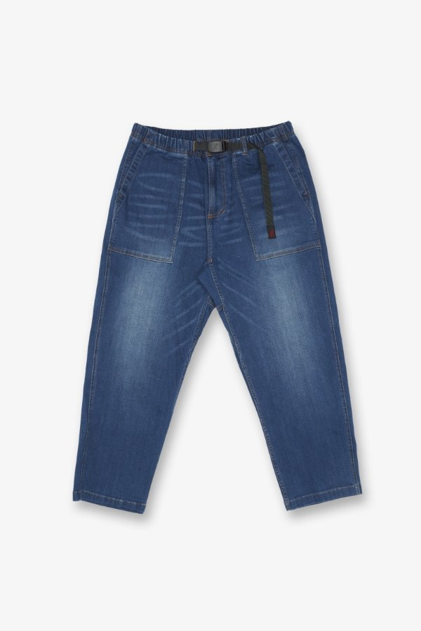 DENIM LOOSE TAPERED PANTS DARK USED