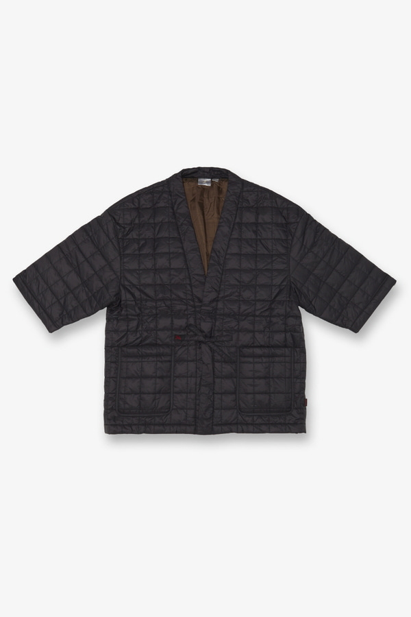 QUILTING ROBE JACKET BLACK