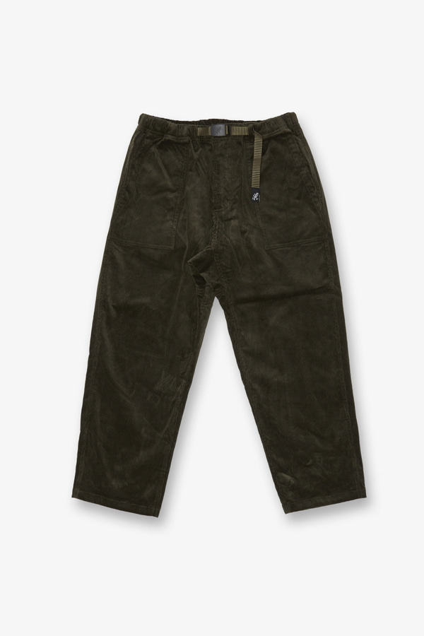CORDUROY LOOSE TAPERED PANTS OLIVE