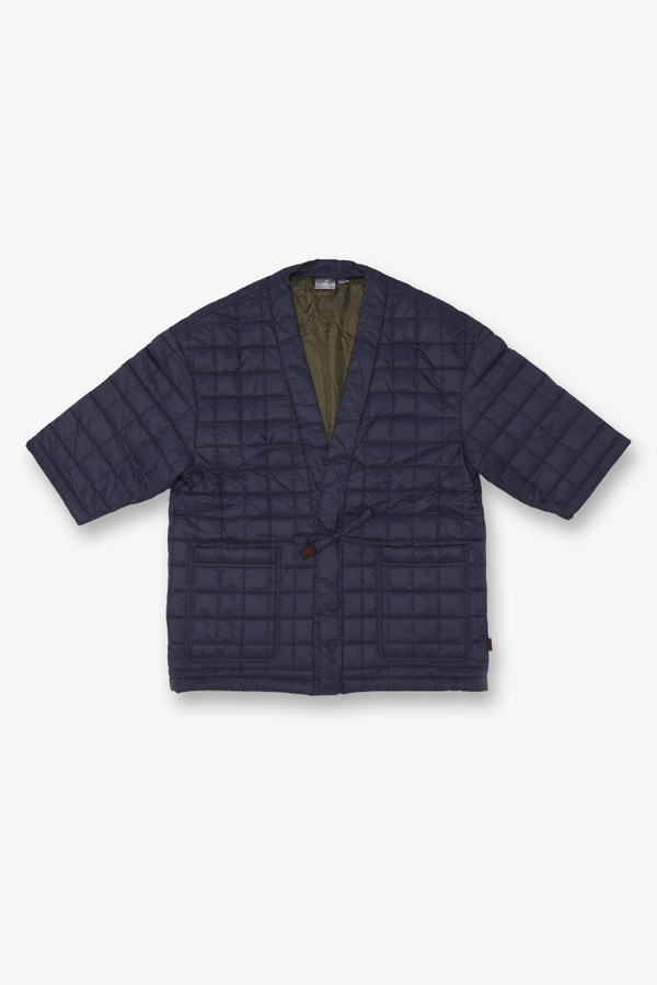 QUILTING ROBE JACKET NAVY