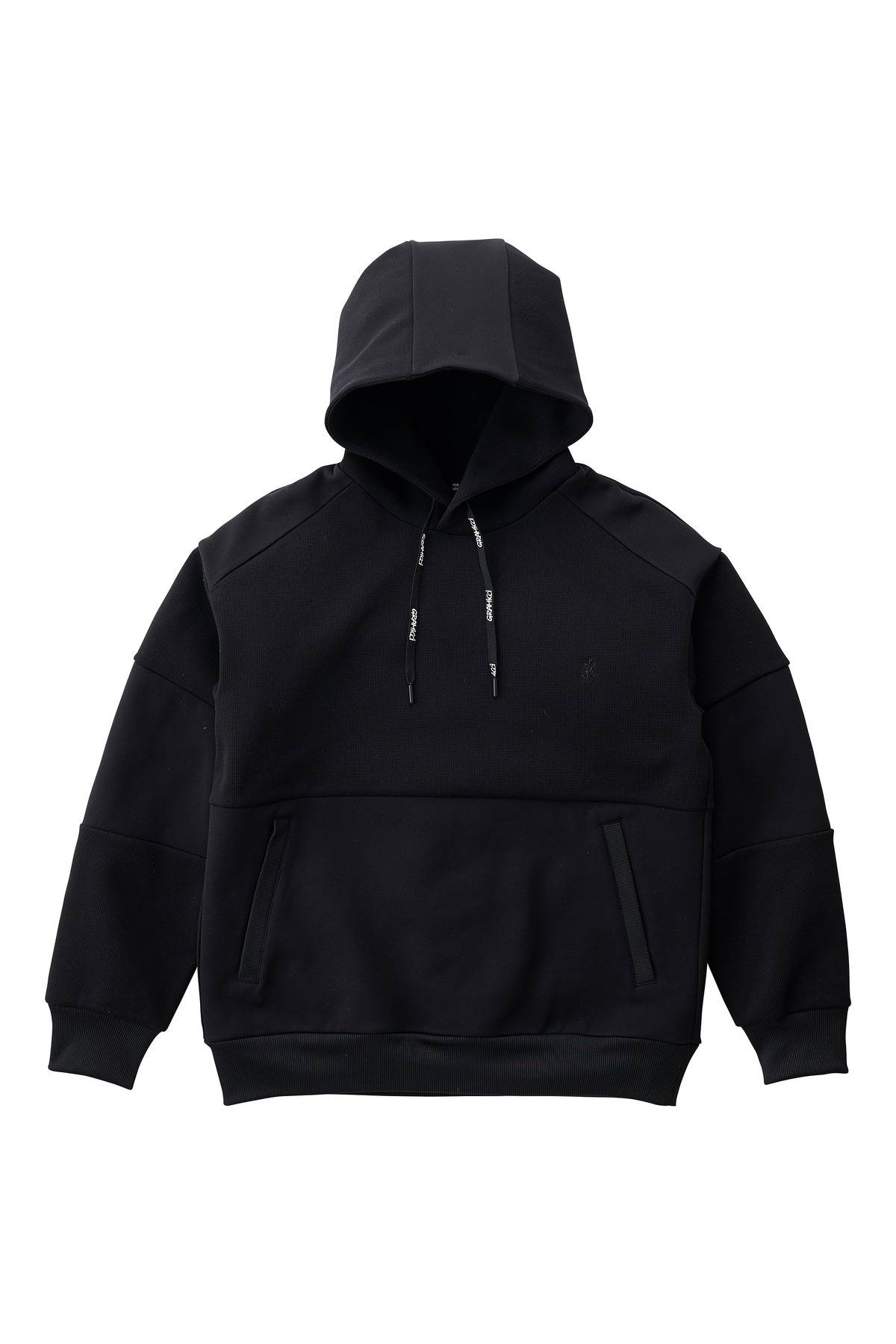 QUARTER KNIT HOODY BLACK