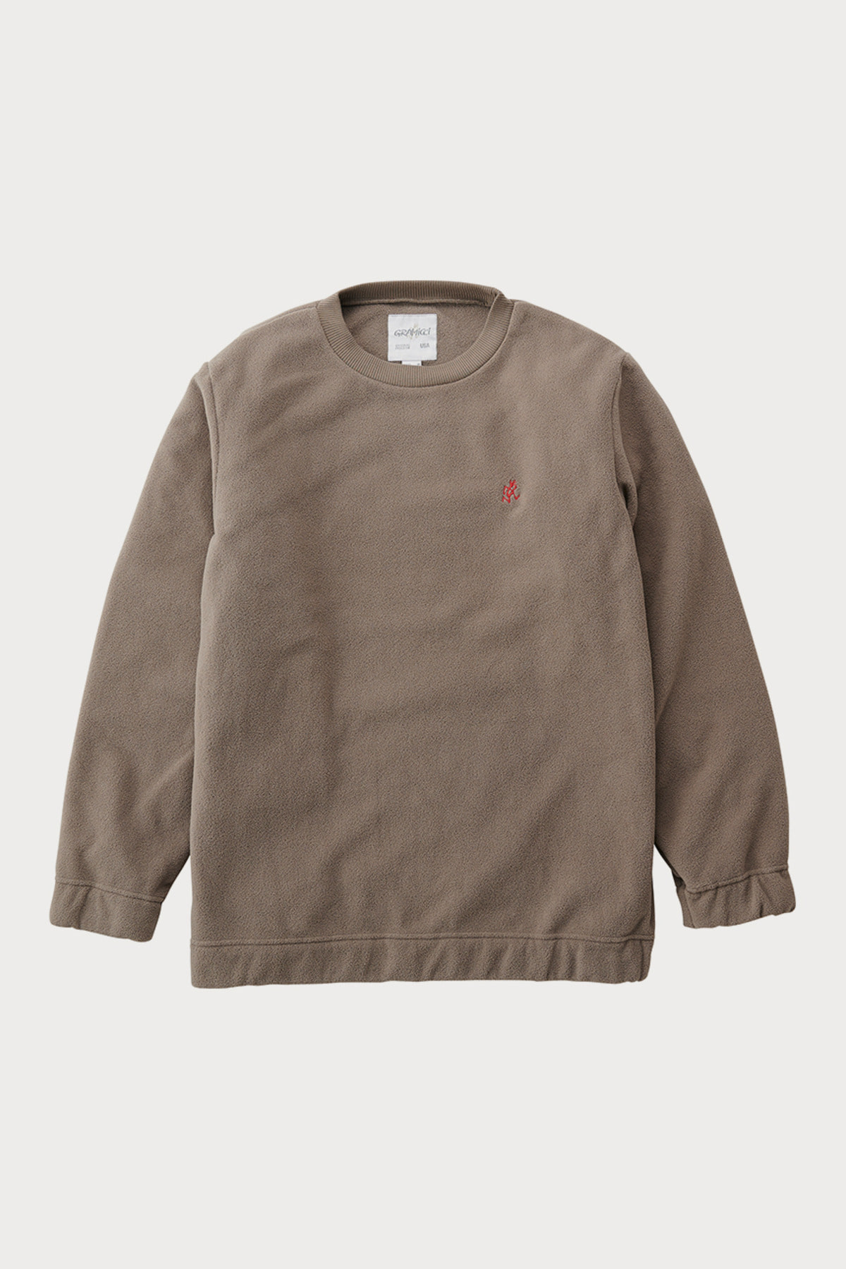 FLEECE CREW NECK WALNAUT