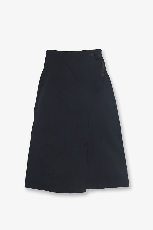 PONTE WRAP SKIRT DOUBLE NAVY