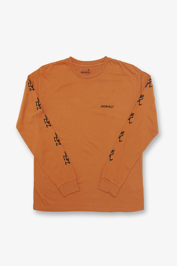 SLEEVE PRINT L/S TEE MAPLE