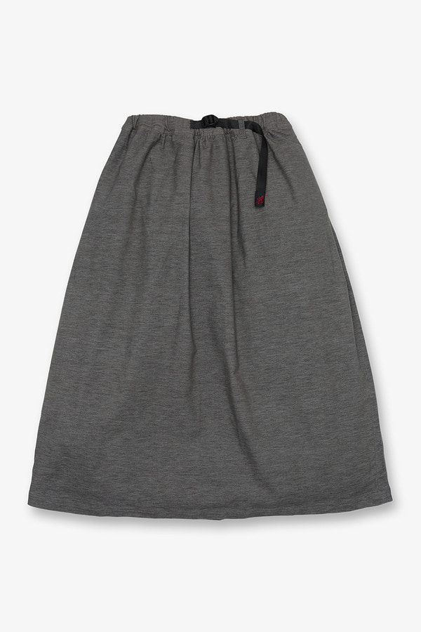 AMERICAN VELVETEEN LONG FLARE SKIRT MID GREY HEATHER