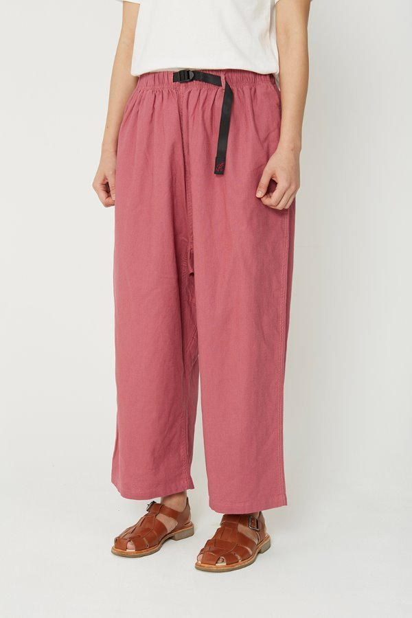 LINEN COTTON BALLOON PANTS PLUM