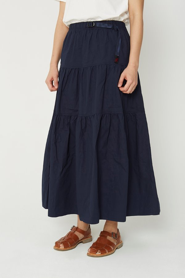 WEATHER TIERED SKIRT DOUBLE NAVY
