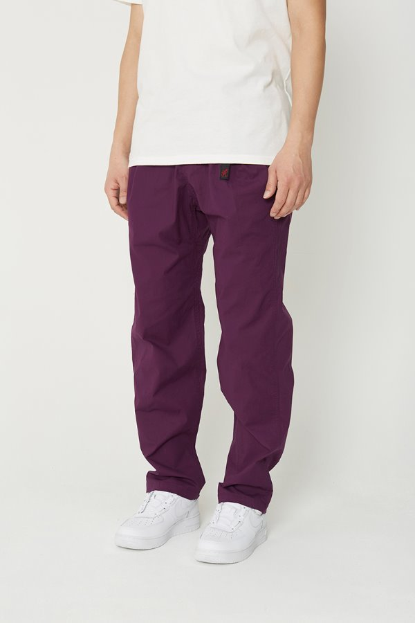 WEATHER TUCK TAPERED PANTS PURPLE