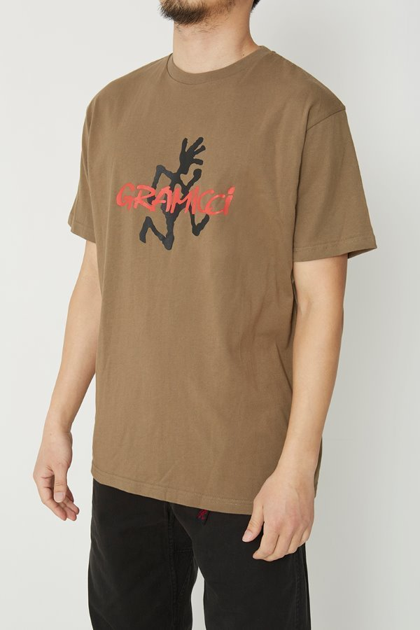 LOGO TEE ASH BROWN