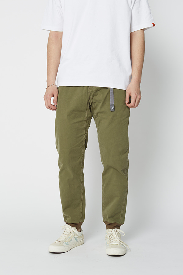 STRETCH TWILL RIB PANTS OLIVE
