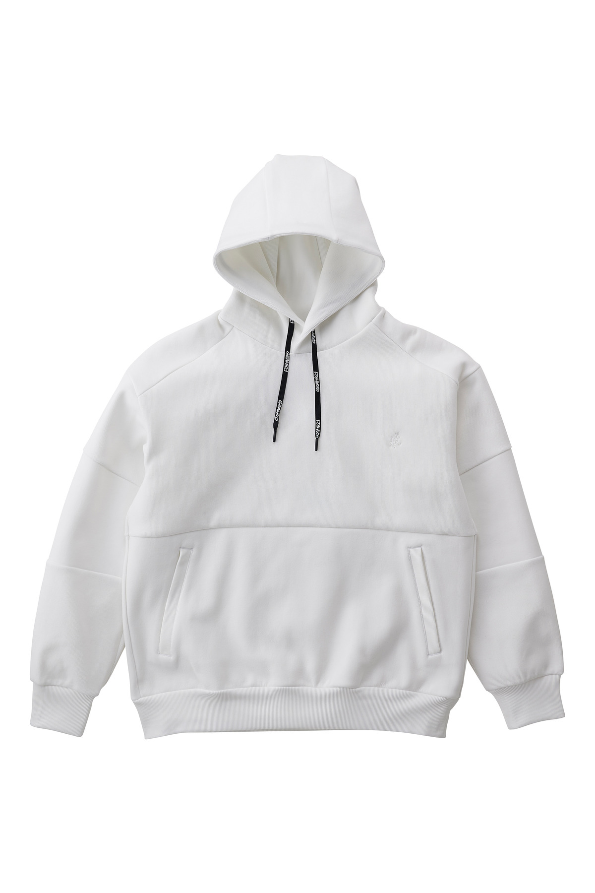 QUARTER KNIT HOODY WHITE