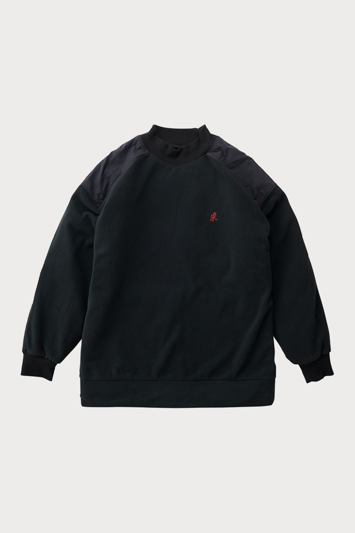 FLEECE MOCK NECK SWEAT BLACK