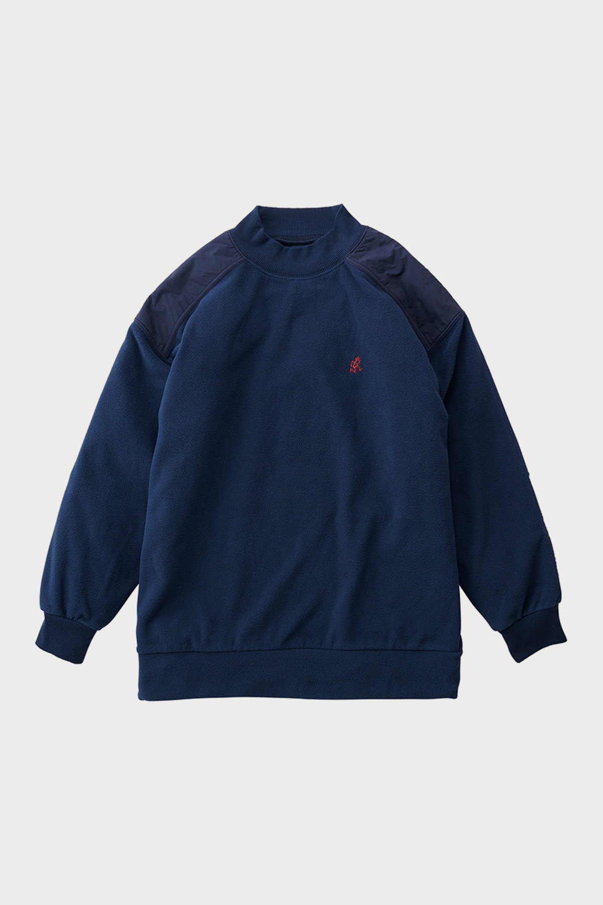 FLEECE MOCK NECK SWEAT NAVY