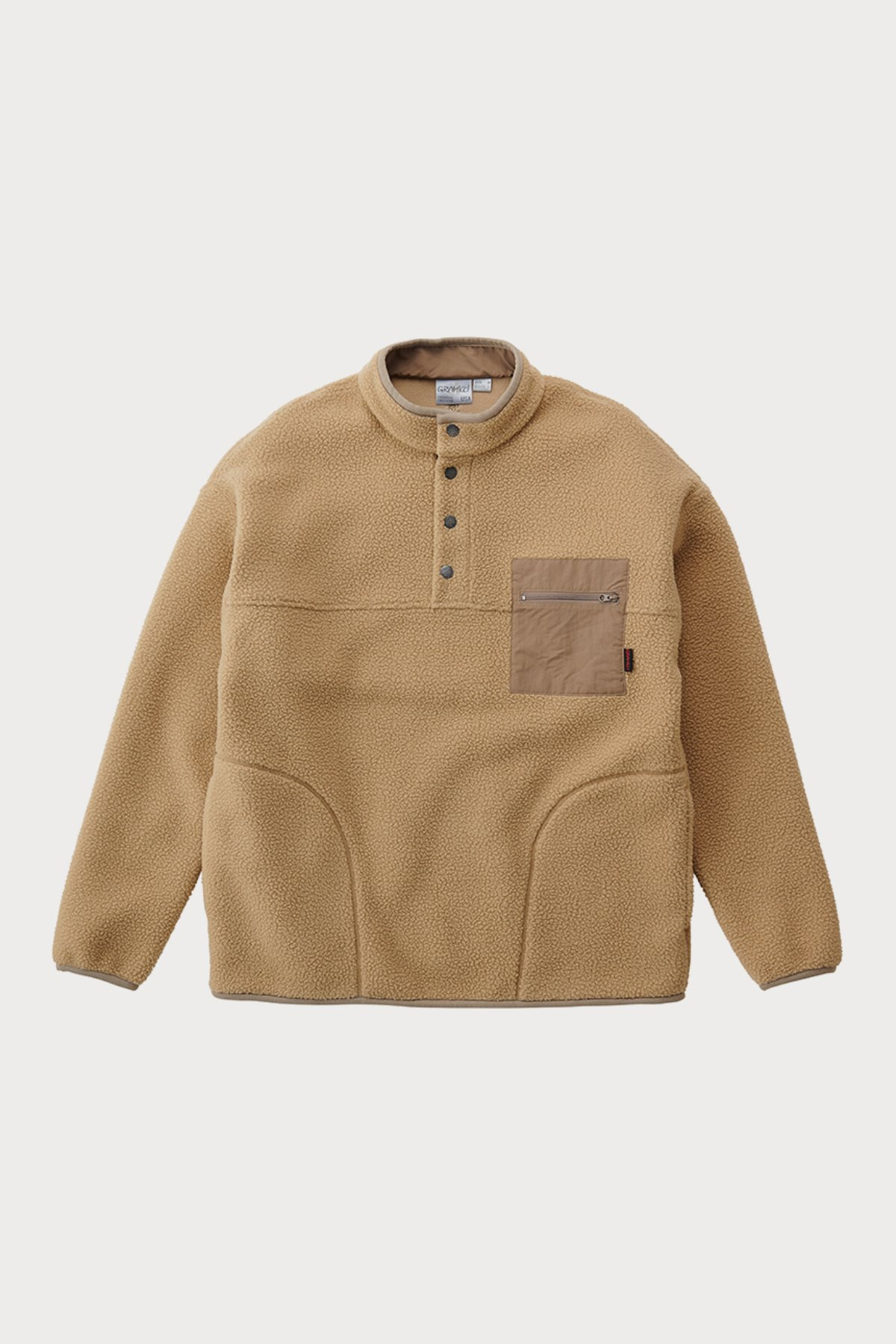 BOA FLEECE PULLOVER SHIRTS BEIGE