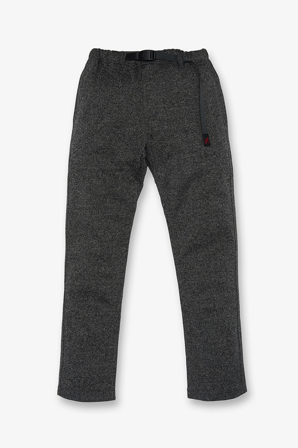 BONDING KNIT FLEECE NN-PANTS JUST CUT CHARCOAL x BLACK