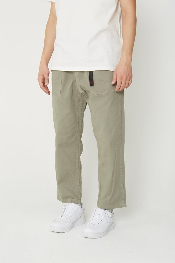 LOOSE TAPERED PANTS KHAKI GREY